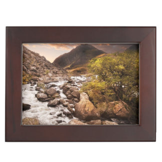 Waterfall In Mountains With Moody Dramatic Memory Boxes
