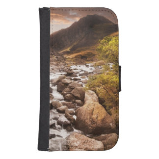 Waterfall In Mountains With Moody Dramatic Samsung S4 Wallet Case