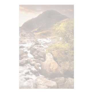 Waterfall In Mountains With Moody Dramatic Stationery