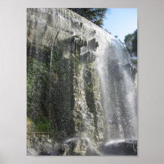 Waterfall in Nice France Print