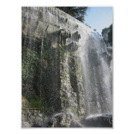 Waterfall in Nice, France Print