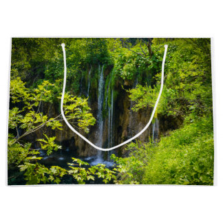 Waterfall in Plitvice National Park in Croatia Large Gift Bag
