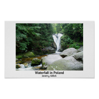 Waterfall in Poland Poster