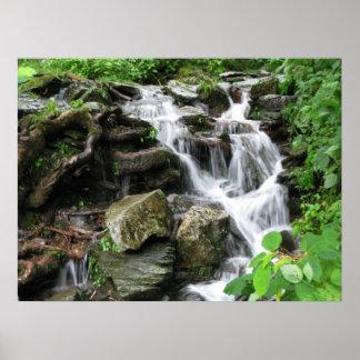 Waterfall in smokey Mountains 2 Poster