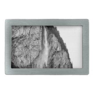 waterfall in Switzerland Rectangular Belt Buckle