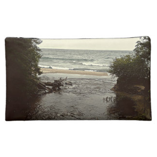 Waterfall in the beach cosmetic bag