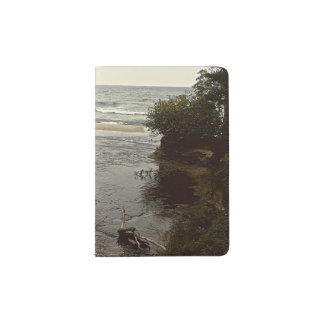 Waterfall in the beach passport holder