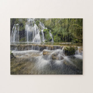 Waterfall in the forest jigsaw puzzle