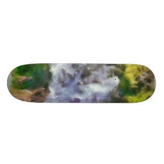 Waterfall in the wild custom skate board