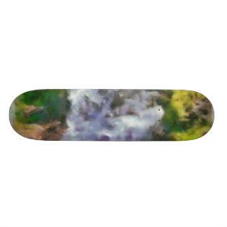 Waterfall in the wild skate board deck