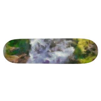 Waterfall in the wild skateboard