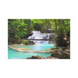 Waterfall in Tropical Forest Gallery Wrapped Canvas