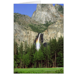 Waterfall in Yosemite National Park, California, Card