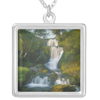 Waterfall, Isle of Skye, Scotland Silver Plated Necklace
