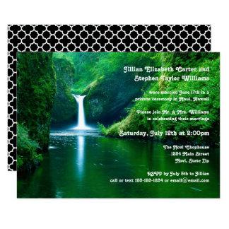 Waterfall Landscape Photo -3x5Wedding Announcement