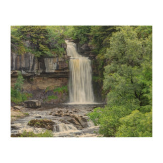 waterfall landscape wood print