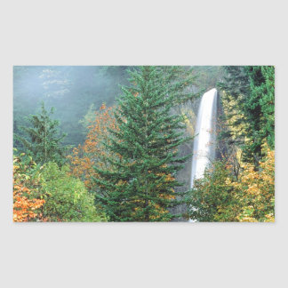 Waterfall Latourell Columbia Rectangular Sticker