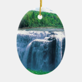 Waterfall Letchworth State Park New York Ceramic Oval Decoration