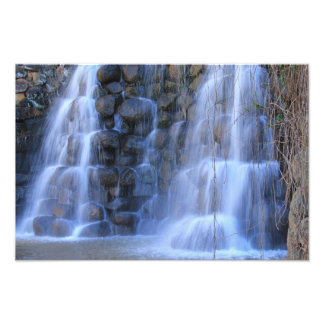 Waterfall made of rocks art photo
