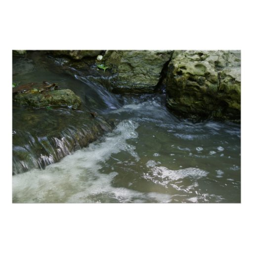 Waterfall Missouri Botanical Garden Print