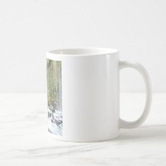 Waterfall Mossbrae Falls Stream Basic White Mug