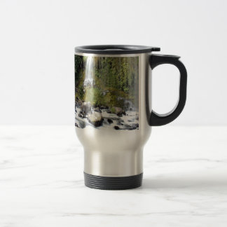 Waterfall Mossbrae Falls Stream Stainless Steel Travel Mug