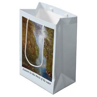 Waterfall Music - Nature Environment Saying Phrase Medium Gift Bag
