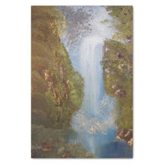 Waterfall Nature Environment Forest Woods Cliffs Tissue Paper