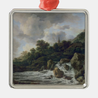 Waterfall Near a Village, c.1665-70 Christmas Ornament