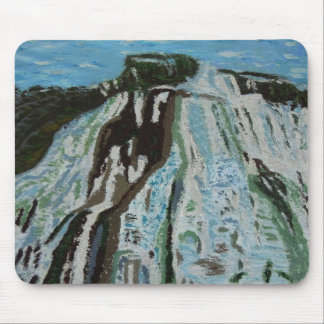 waterfall oil painting mouse pad