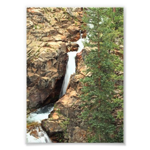 Waterfall on the Gothic Trails, Colorado Photo Print