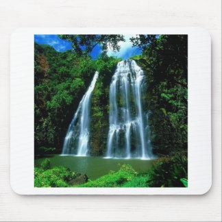 Waterfall Opaekaa Kauai Hawaii Mouse Mat