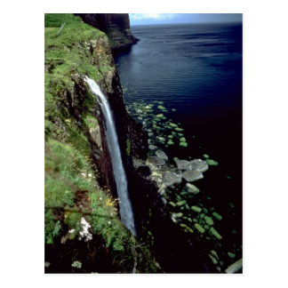 Waterfall over the cliffs of the Isle of Skye, Sco Postcard