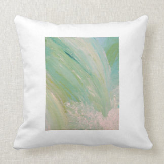 Waterfall Painting Cotton Throw Pillow