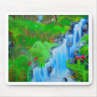 Waterfall Painting Mouse Pad