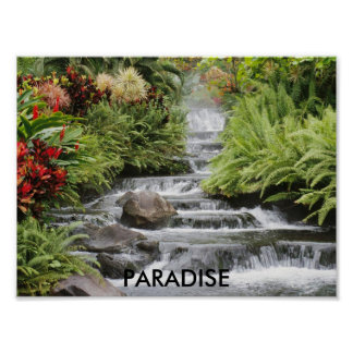 Waterfall, PARADISE Poster