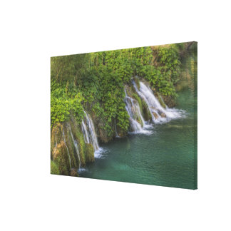 Waterfall, Plitvice Lakes National Park and Canvas Print