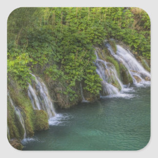 Waterfall, Plitvice Lakes National Park and Square Sticker