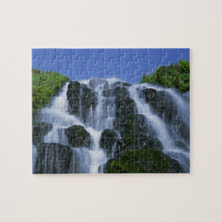 Waterfall, Portree, Isle of Skye, Highlands, Jigsaw Puzzle