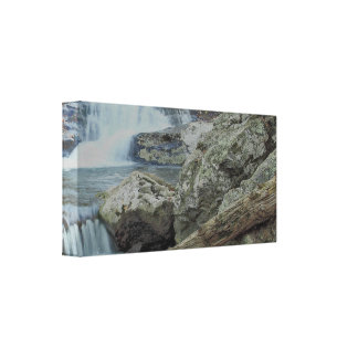 Waterfall, Rocks and a Stream Canvas Print