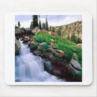 Waterfall Rushing Of Spring Teton Park Wyoming Mouse Pad