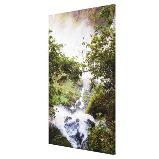 Waterfall Seeing From Above Canvas Print