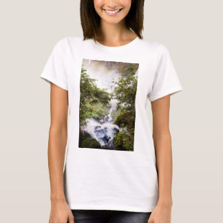 Waterfall Seeing From Above T-Shirt