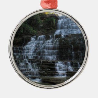 Waterfall Silver-Colored Round Decoration