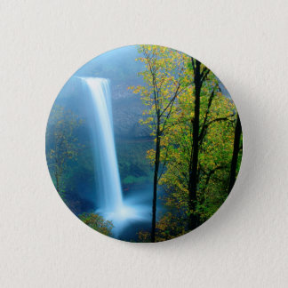 Waterfall South Silver State Park 6 Cm Round Badge