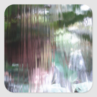 Waterfall Square Sticker