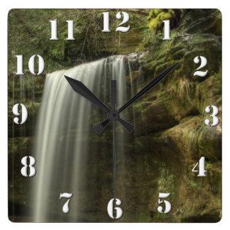 Waterfall Square Wall Clock