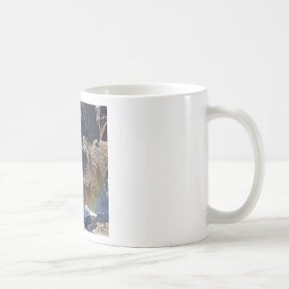 Waterfall Stream Rainbow Falls Basic White Mug
