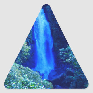 Waterfall Triangle Sticker