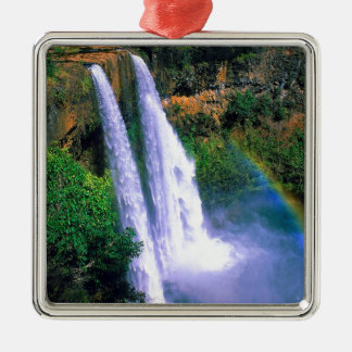Waterfall Wailua Kauai Hawaii Christmas Ornament